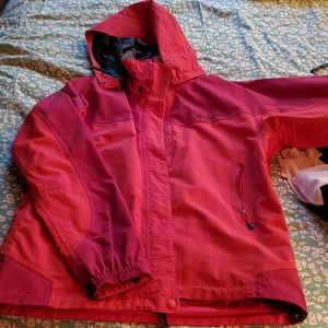 Womens Lg Marmot Jacket (Rose and Wine)